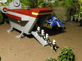 CR-20 troop carrier lands clone squadron on Yavin by William-Blackbird