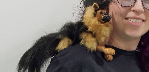 German Shepherd puppet dog