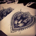 royal cat tattoo designs