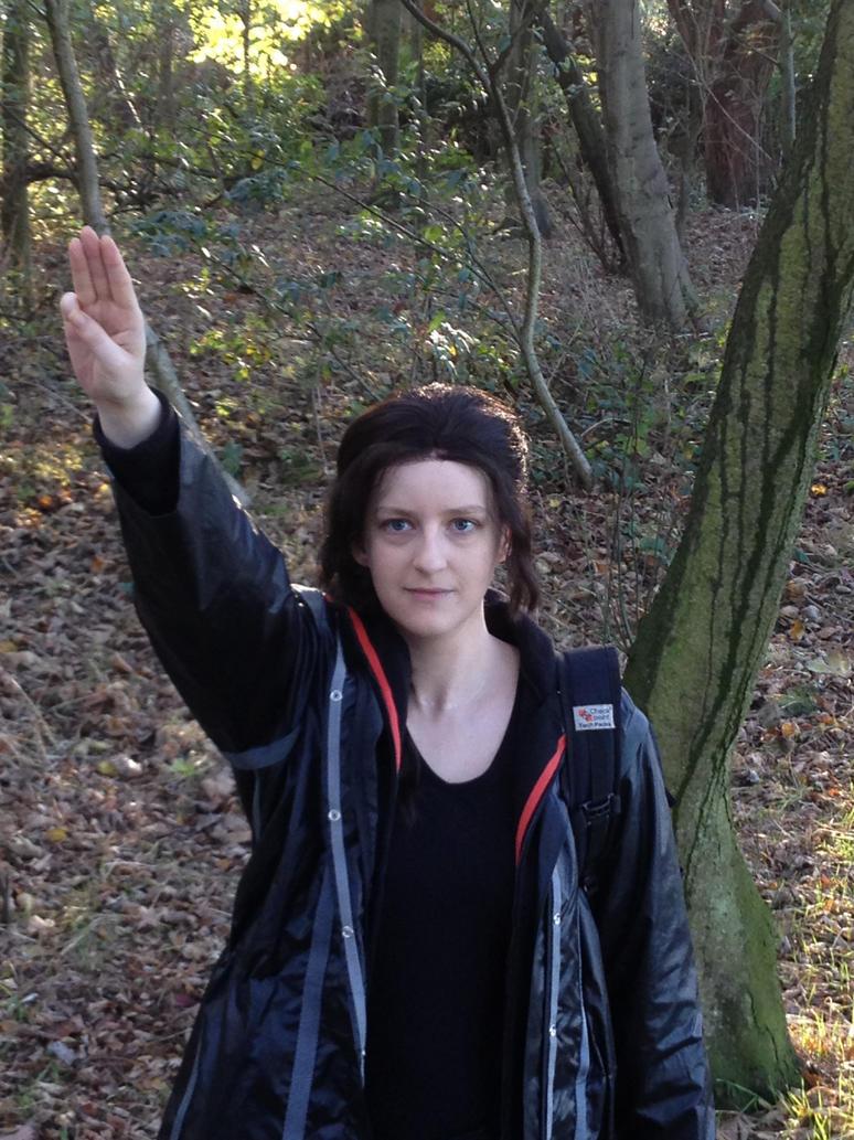 katniss everdeen three finger salute by naurarwen on