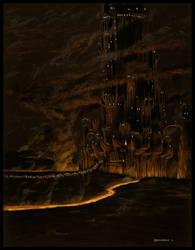 Barad-Dur on Gorgoroth by EthalenSkye