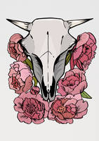 Cowskullprint by niferdil