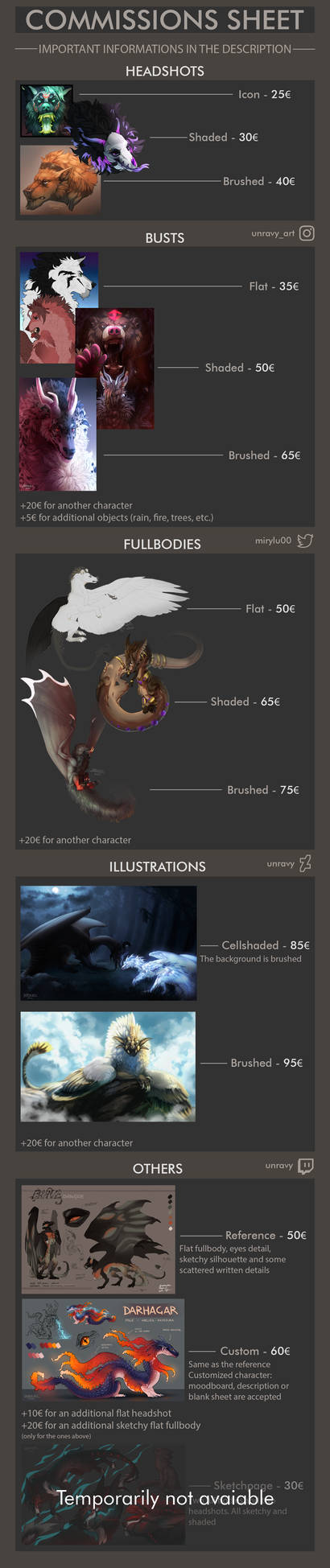 COMMISSIONS INFOs - CLOSED