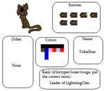 Warriors a Full Moon - Tribalstar's Form