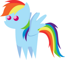 Little Rainbow Dash Figure by MikeTheUser