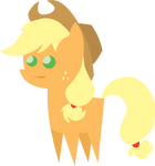 Little Some-What Happy Apple Jack Figure