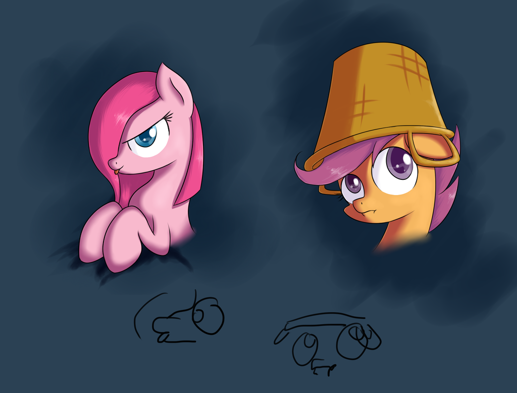 Pinkie and Scoot by MikeTheUser