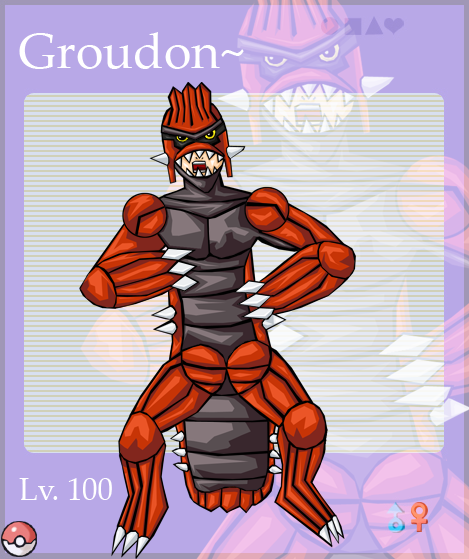 Groudon Gijinka Groudon gijinka by 56ghk