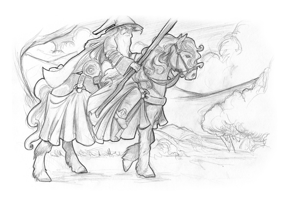 Weekly sketch - Gandalf by AndyIomoon