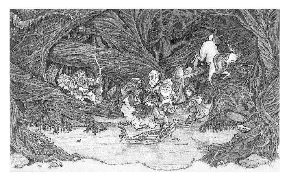 Deep in Mirkwood - Inks by AndyIomoon
