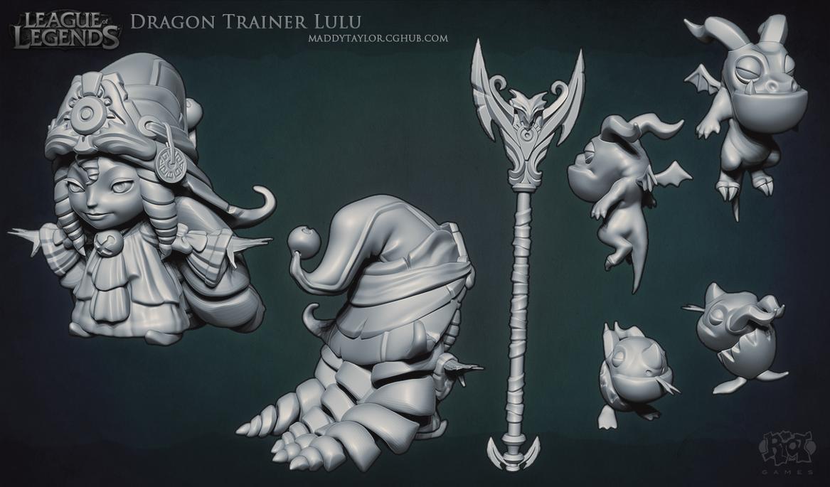 LoL: Dragon Trainer Lulu sculpt by MissMaddyTaylor