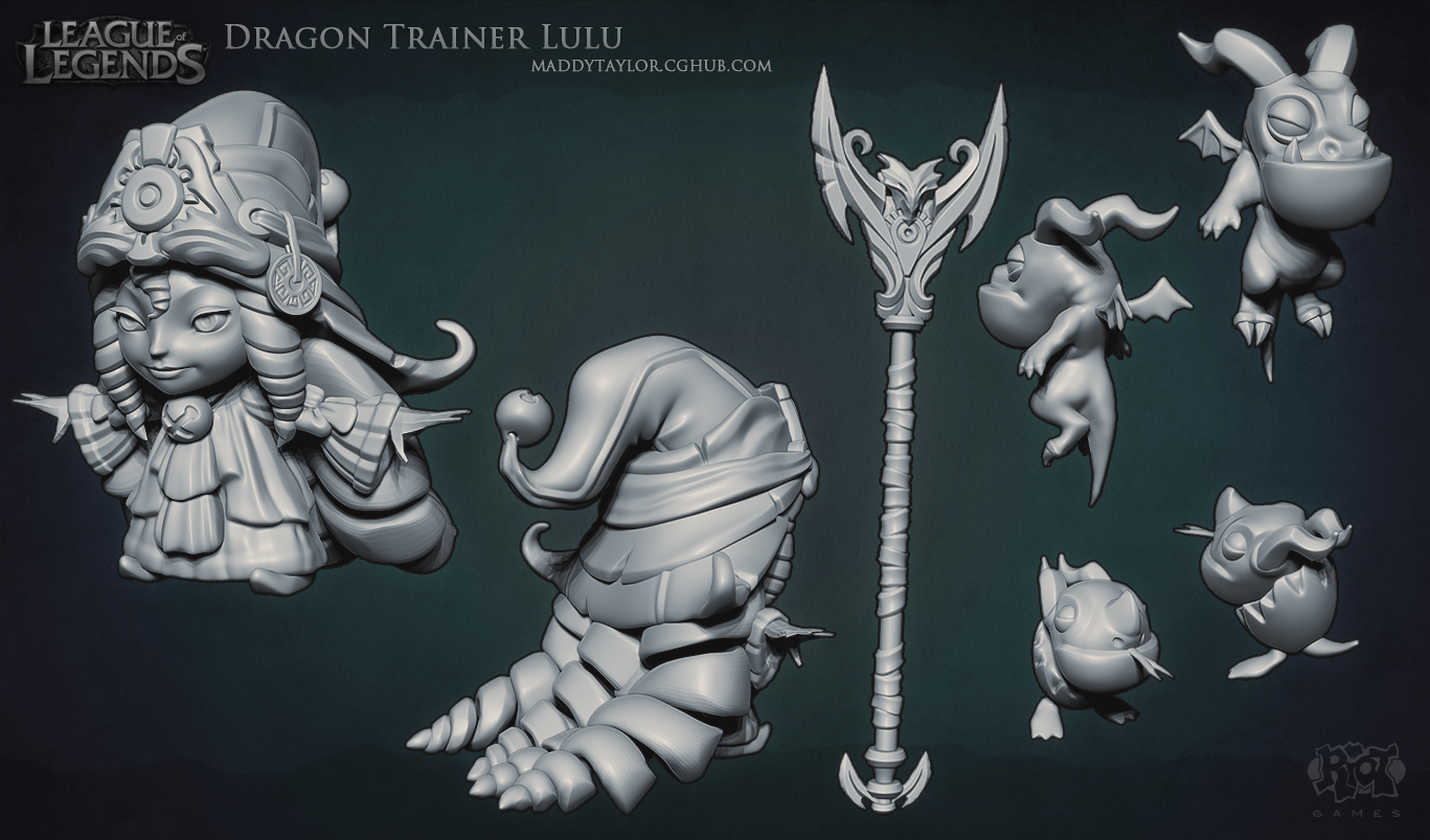 LoL: Dragon Trainer Lulu sculpt by MissMaddyTaylor