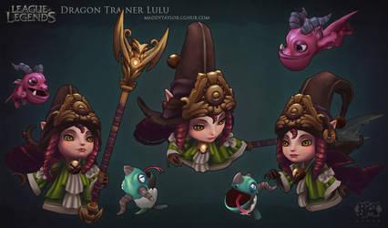 LoL: Dragon Trainer Lulu by MissMaddyTaylor