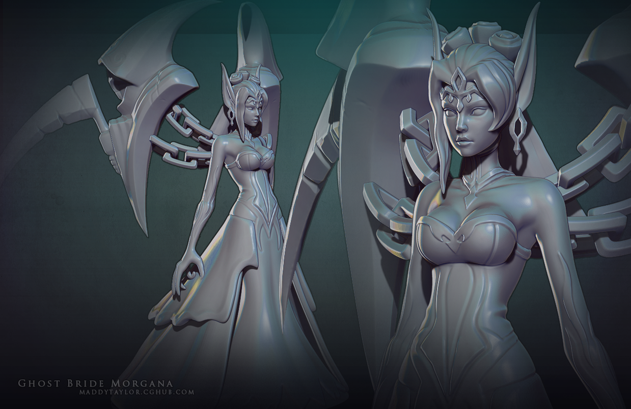 Ghost Bride Morgana sculpt by MissMaddyTaylor on DeviantArt
