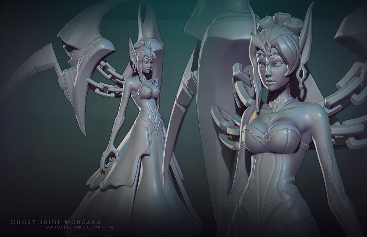 Ghost Bride Morgana sculpt by MissMaddyTaylor on DeviantArt