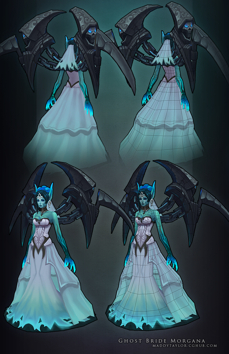Ghost Bride Morgana breakdown by MissMaddyTaylor on DeviantArt