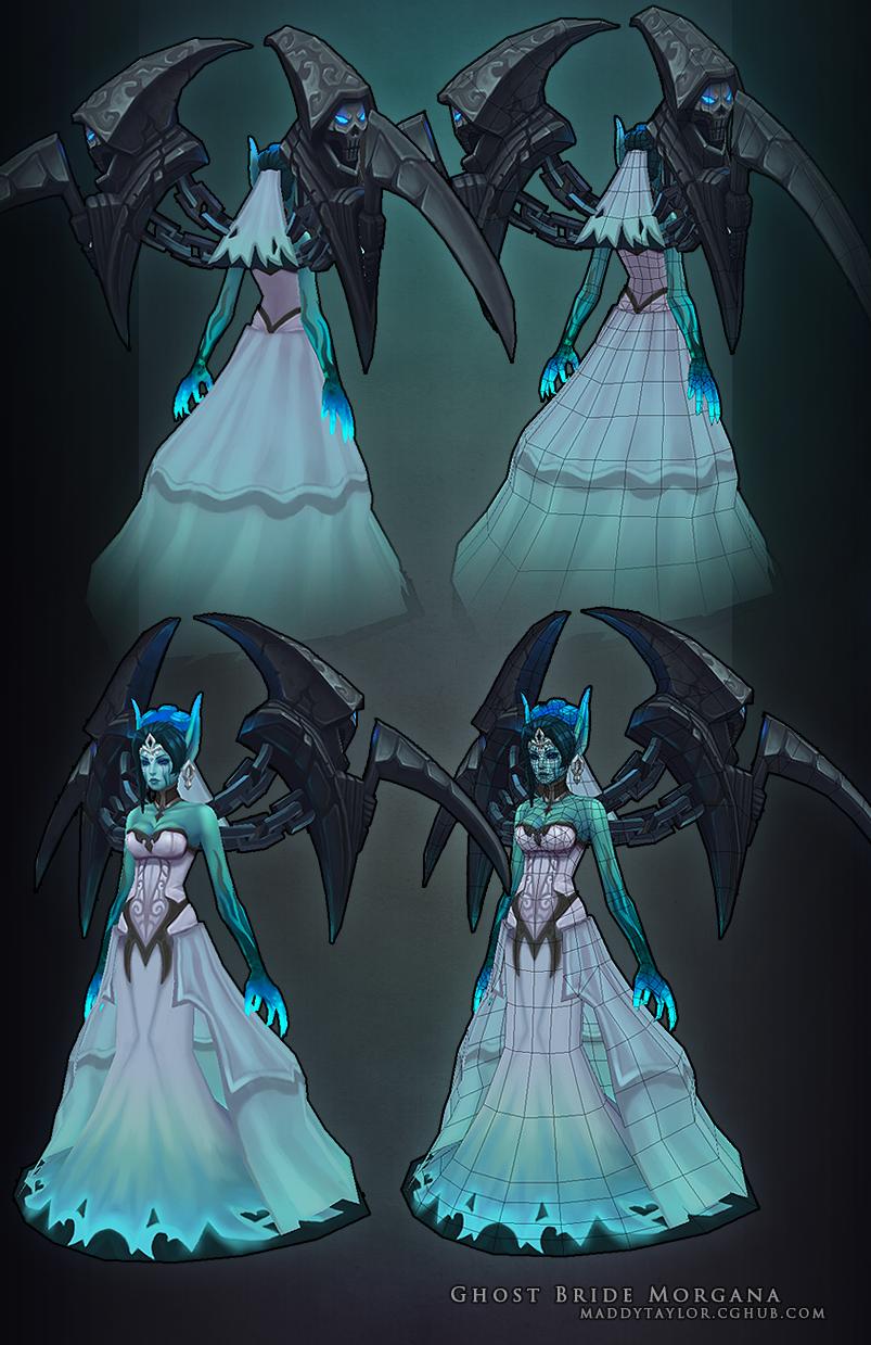 Ghost Bride Morgana breakdown by MissMaddyTaylor on DeviantArt