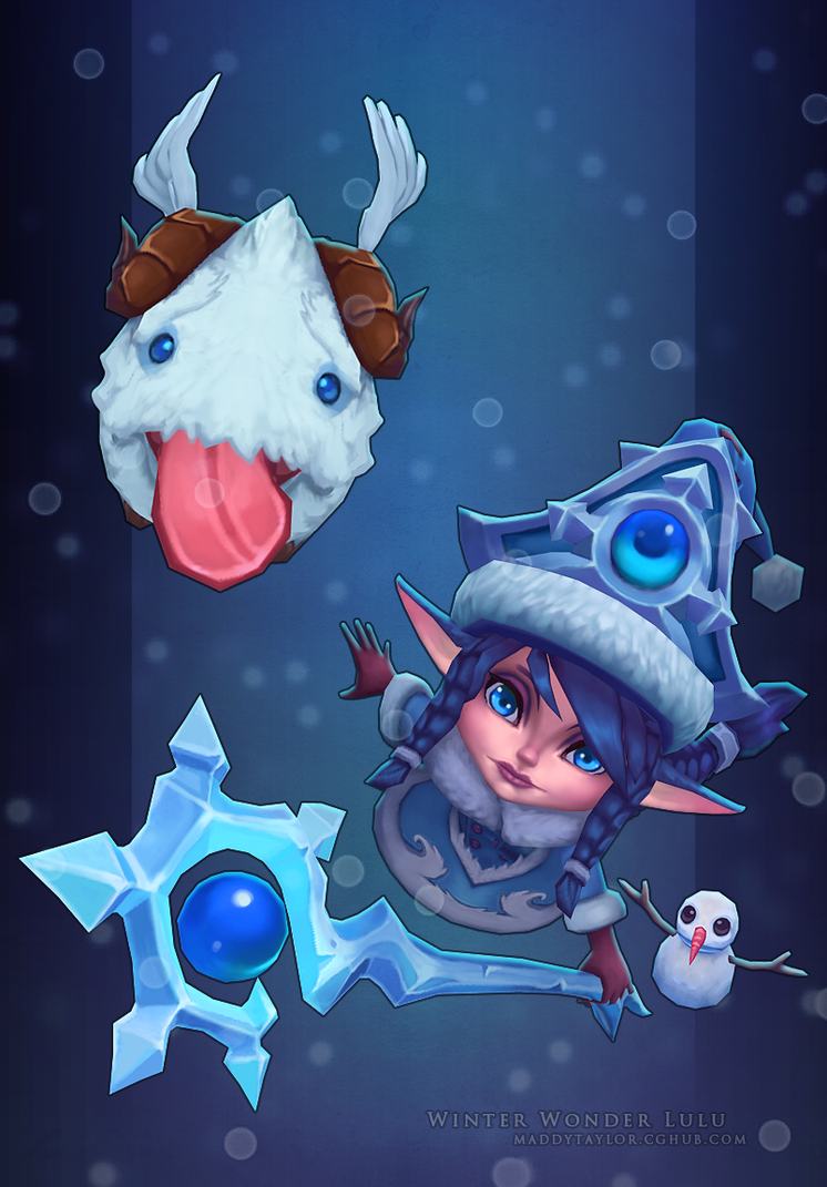 LoL: Winter Wonder Lulu by MissMaddyTaylor on DeviantArt