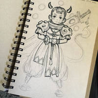 Boy with Horns by MissMaddyTaylor