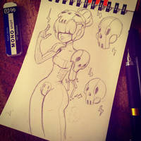 Day 7 - Skull by MissMaddyTaylor