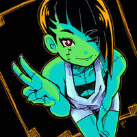 Monster Girl Selfie by MissMaddyTaylor