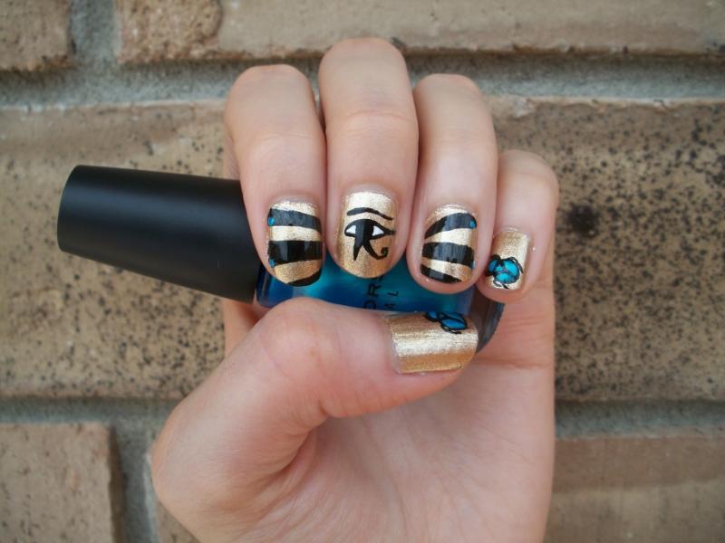 Egyptian Inspired Nail Art Design by Itsbejarano ... - Egyptian Inspired Nail Art Design By Itsbejarano On DeviantArt