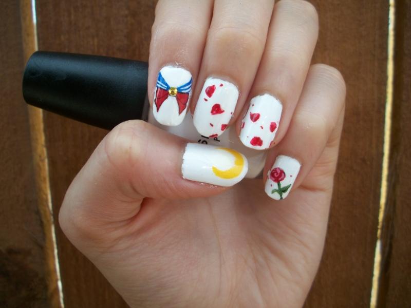Sailor moon inspired nail art design by itsbejarano on deviantart sailor moon inspired nail art design by itsbejarano prinsesfo Image collections