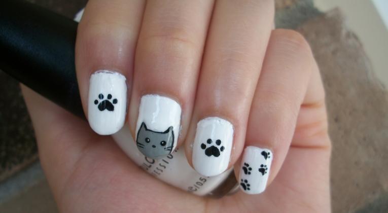 Cat nail art design by itsbejarano on deviantart - Nail art chat ...