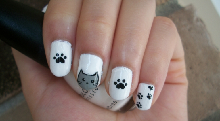 Cat Nail Art Design By Itsbejarano On Deviantart