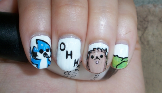 The regular show inspired nail art design ohhhh by itsbejarano the regular show inspired nail art design ohhhh prinsesfo Image collections