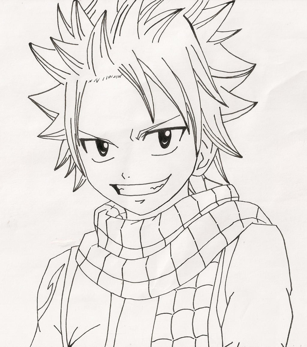 Line Art Anime : Natsu dragneel line art by anime life nyan on deviantart