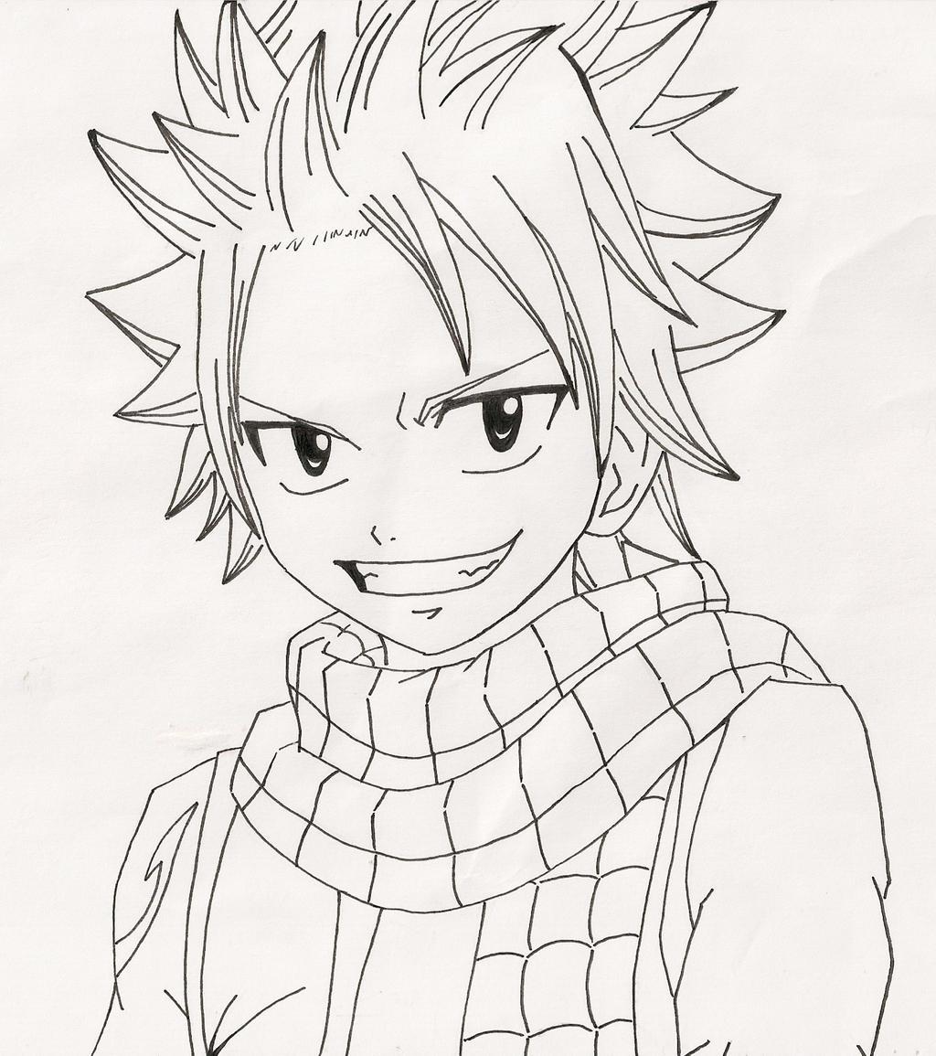 Line Art Anime : Natsu dragneel line art by anime life nyan on deviantart