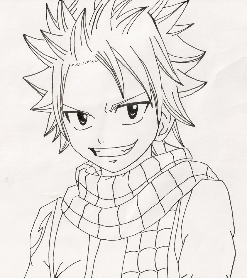Line Art Manga : Natsu dragneel line art by anime life nyan on deviantart