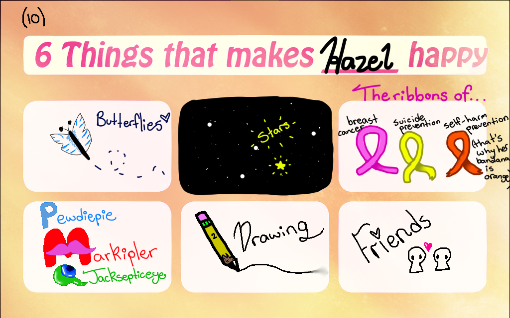 6 things that makes Hazel happy meme by Chocolatekitty27