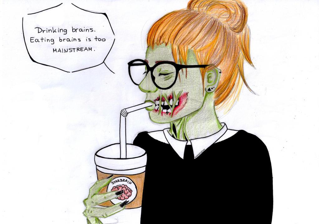 Drinking brains by EnenraEnn