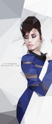Demi Lovato Polygonal Portrait by JustAmandaa