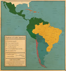 War-Torn: The Nations of Latin America by FinerSkydiver