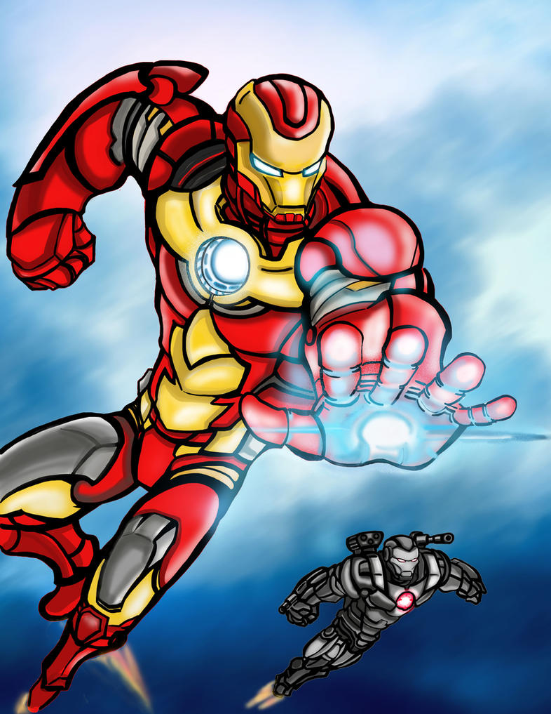 Ironman and War Machine by Shinjigo