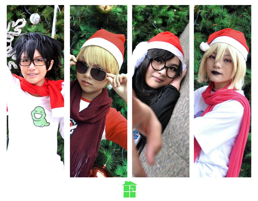 Merry Homestuck Xmas! by Midorinokurokami