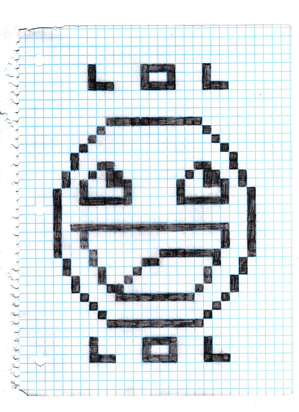 Graphing Paper Drawing Cool Drawings on Graph Paper