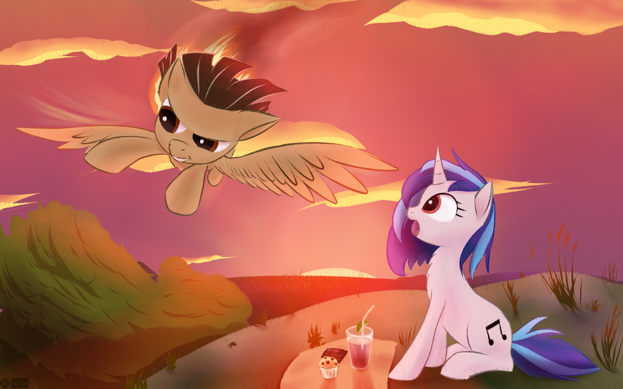 Wild Fire and  Vinyl Scratch by iOVERD