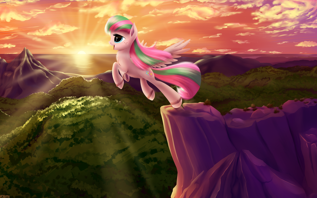 Blossomforth at sunset by iOVERD