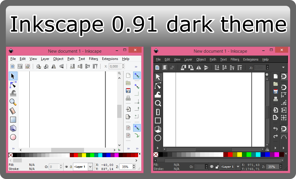 Inkscape 0.91 dark theme by roadsleadme