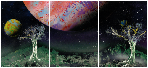 Three part planetscape