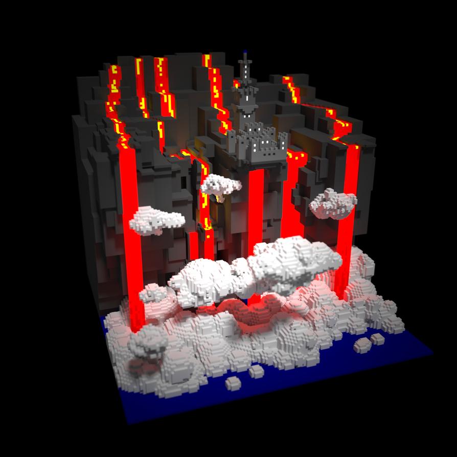 Lava Castle by AronKamo