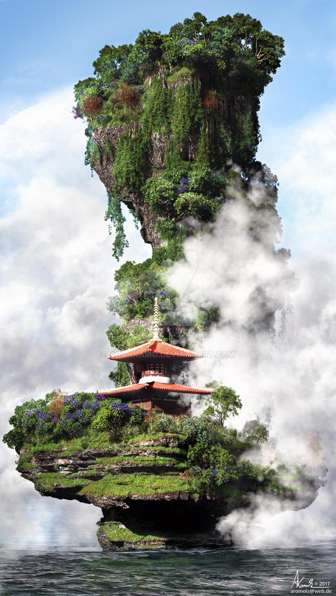 Zen shrine by AronKamo
