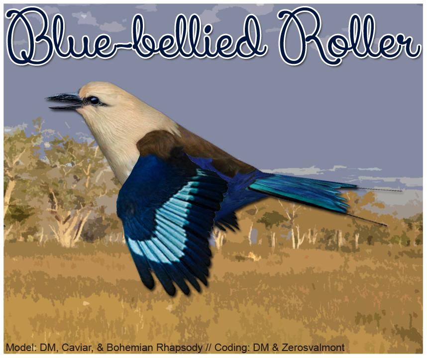 Blue-bellied Roller Download Screen by GrandeChartreuse
