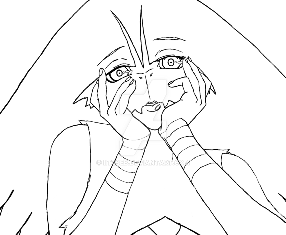 Blaziken Gasai Yuno Lineart By IiTzSeb On DeviantArt