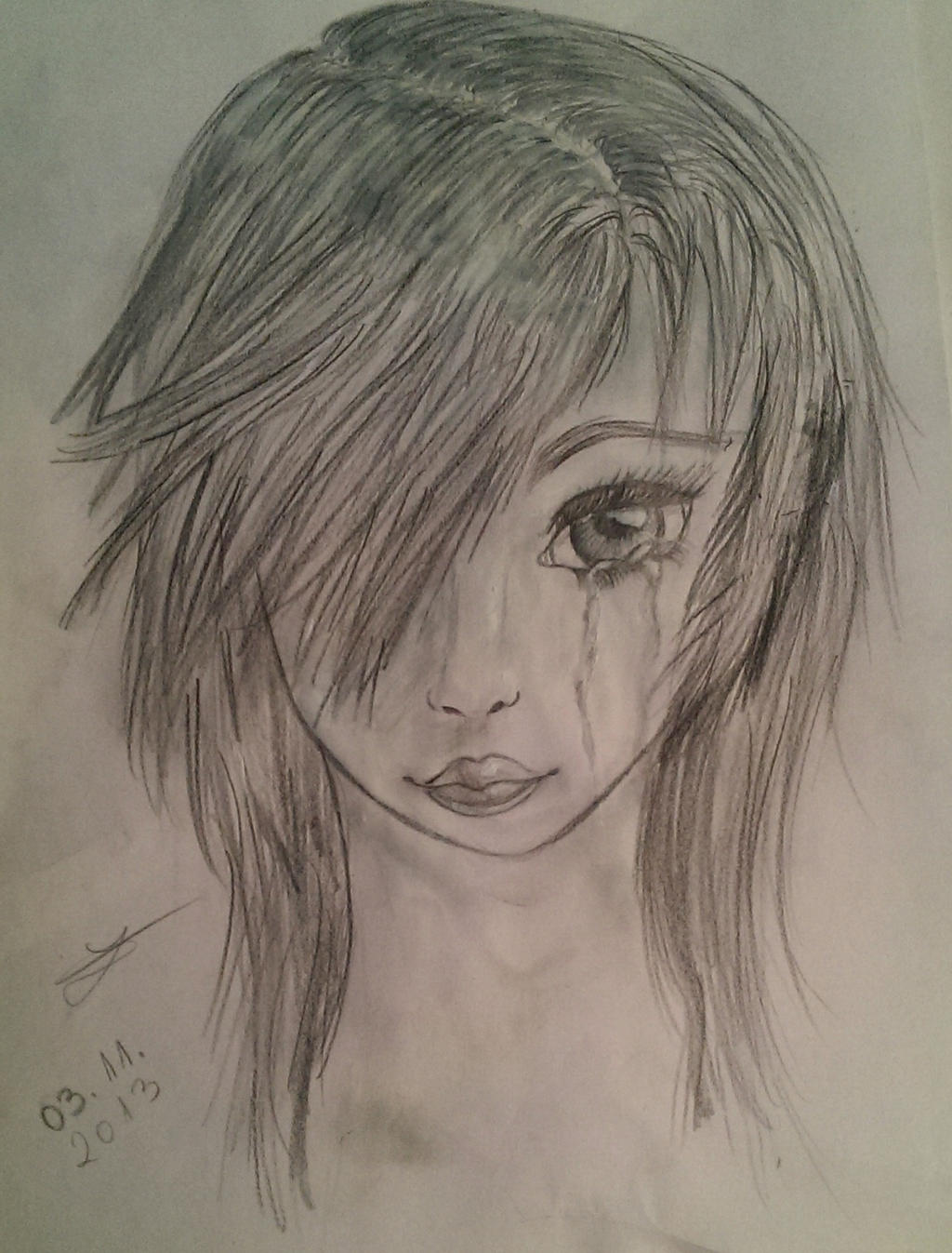 Crying Girl Drawing Ecosia