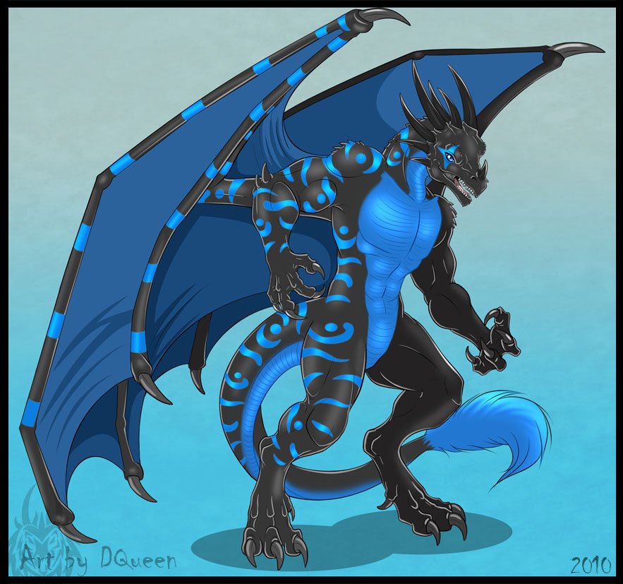 Anthro Dragon Commission By Drakainaqueen On Deviantart